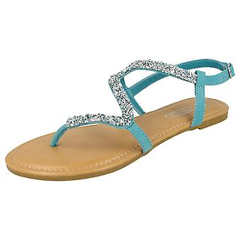 Ladies Spot On Open Toe Sandals