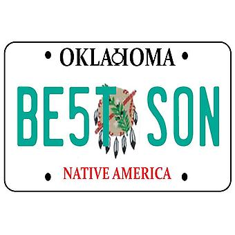 Oklahoma - Best Son License Plate Car Air Freshener