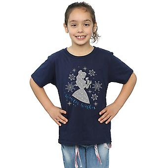 Disney Princess Girls Belle Winter Silhouette T-Shirt