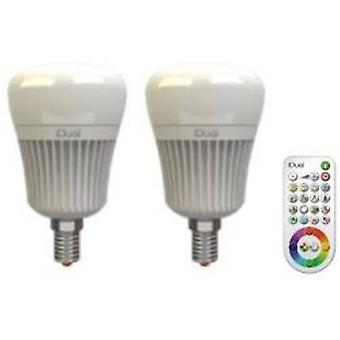 LED E14 Arbitrary 7 W = 40 W RGBW (Ø x L) 60 mm x 104 mm EEC: A+ JEDI Lighting incl. remote control, colour-changing, di