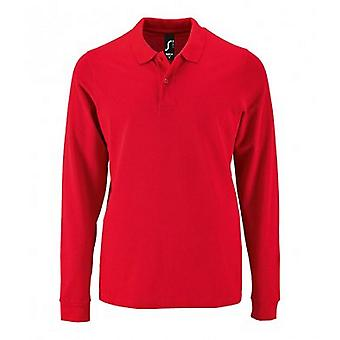 SOLS Mens Perfect Long Sleeve Pique Polo Shirt