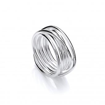 Cavendish francese Weave Anello in argento