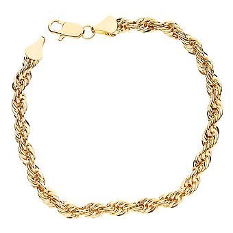 Bling Kordelkette Armband - ROPE Chain 6mm gold