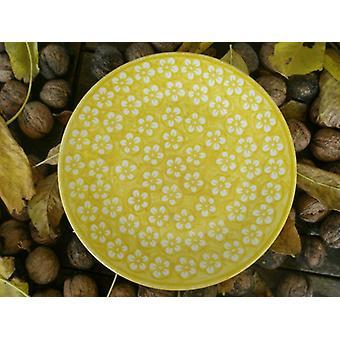 Morgenmad plade, ø 22 cm, gul, Bolesławiec BSN m 4227