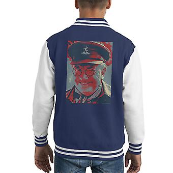 Dads Army Captain Mannering BBC Poster Style Kid's Varsity Jacket