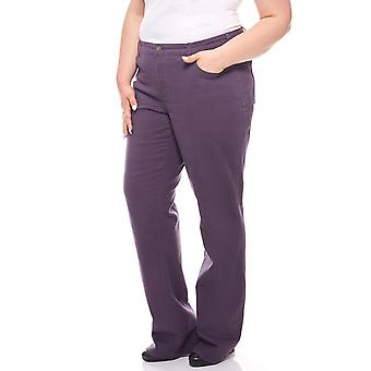sheego straight leg Casual jeans plus size long size violet