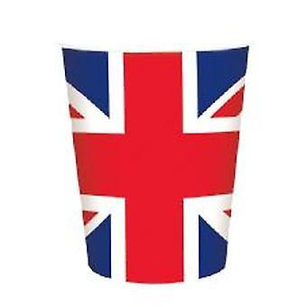 Taza de papel de la Union Jack (8 por paquete)