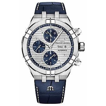 Maurice Lacroix Aikon Automatic Chronograph Blue Leather Strap AI6038-SS001-131-1 Watch