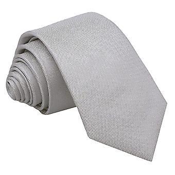 Zilveren Panama zijde slanke Tie