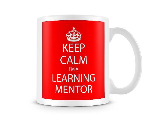 Houd kalm Im A leren Mentor bedrukte mok bedrukte mok