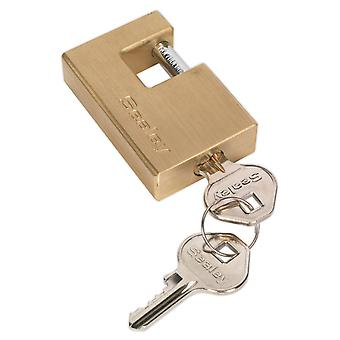 Sealey Pl207 Brass Shutter Padlock 56Mm