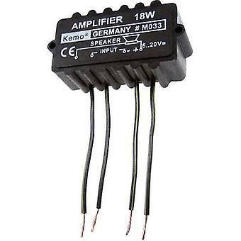 Kemo M033N Mono amp Component 9 Vdc, 12 Vdc, 18 Vdc, 20 Vdc 18 W 4 Ω