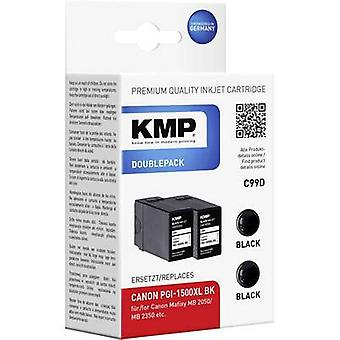 KMP Ink replaced Canon PGI-1500XL BK Compatible Pack of 2 Black C99D 1564,0021
