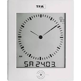 TFA 60.4506 Radio Wall clock 220 mm x 265 mm x 31 mm Silver