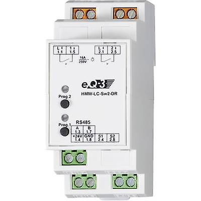 Actionneur Homematic RS485 HMW-LC-Sw2-DR 76801 2 canaux DIN rail 3680 W