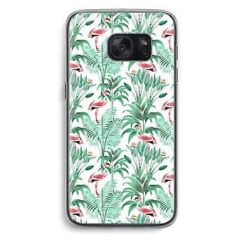 Samsung Galaxy S7 Transparent Case (Soft) - Flamingo leaves