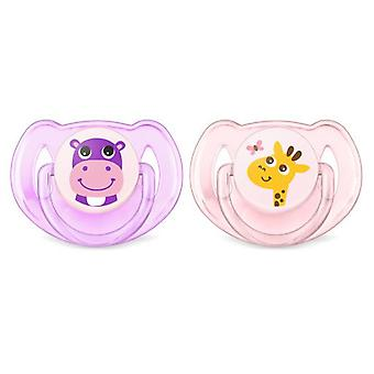 Avent Pacifier Safari from 6 to 18 Months 2 units