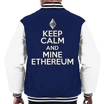 Keep Calm And Mine Ethereum Men's Varsity Jacket