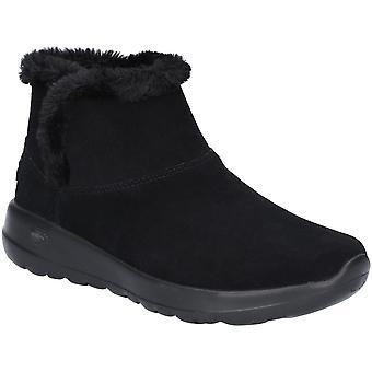 Skechers Womens Go Walk Joy Soft Suede Faux Fur Boots