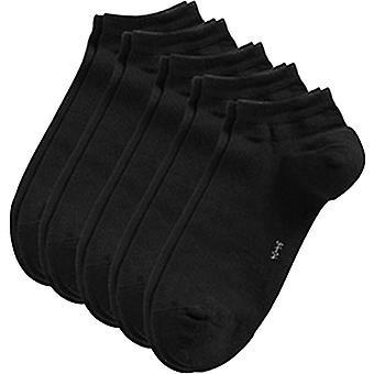 Esprit Block Coloured Sneaker 5 Pack Socks - Black