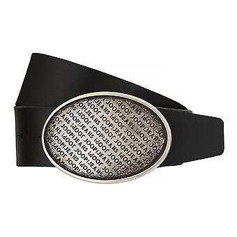 ¡JOOP! Correas cinturones hombres cuero hebilla de acoplamiento negro 7508