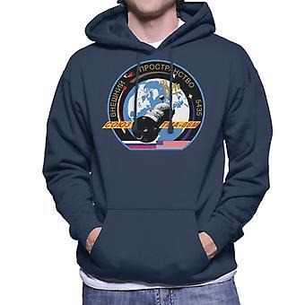 Roscosmos TMA 06M Soyuz Spacecraft Mission Patch Men's Hooded Sweatshirt