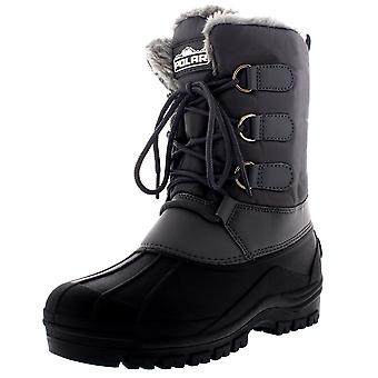 Mens Muck Lace Up Short Duck Hiking Walking Thermal Faux Fur Snow Boots UK 6-14