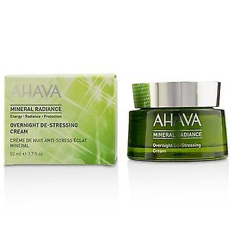 Ahava Mineral Radiance Overnight De-Stressing Cream - 50ml/1.7oz