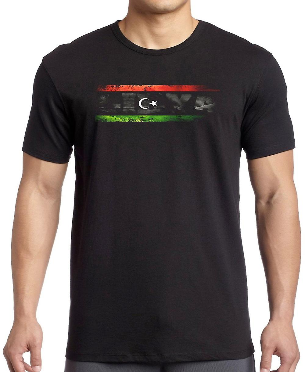 Libya Libyan Flag - Words Kids T Shirt