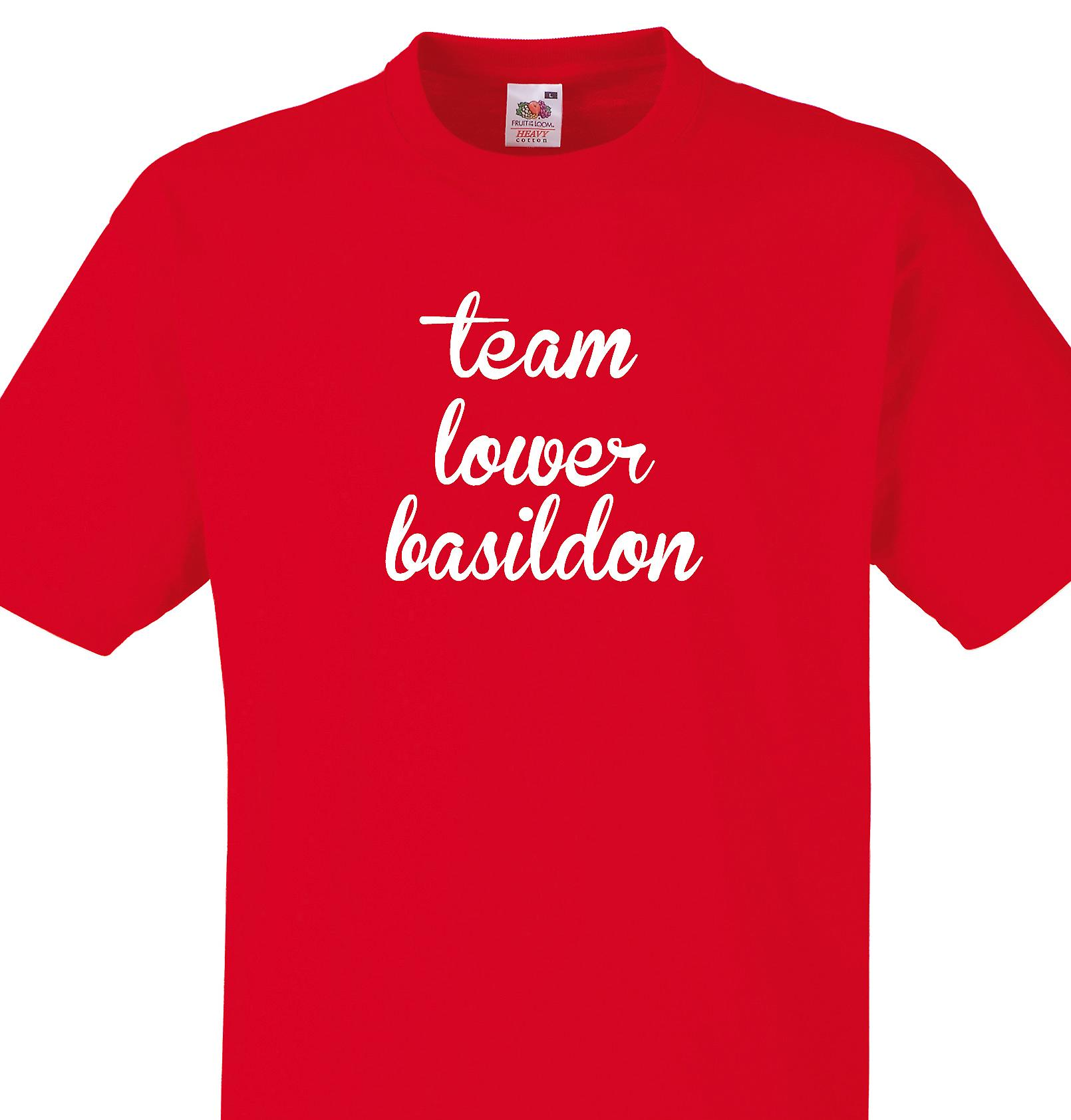 Team Lower basildon Red T shirt