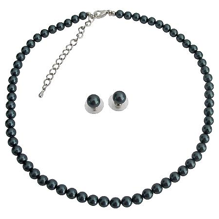 Exotic Tahitian Pearl Necklace Stud Earrings At Low Price