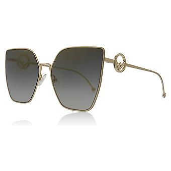 Fendi FF0323/S FT3 Grey / Gold FF0323/S Cats Eyes Sunglasses Lens Category 3 Size 63mm