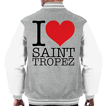 I Love Saint Tropez Men's Varsity Jacket
