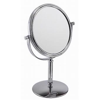 Famego 3x Magnification Small Pedestal Chrome Mirror