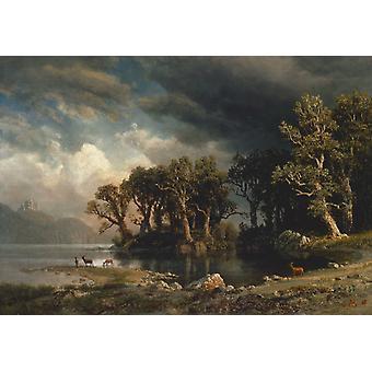 Den kommende stormen, Albert Bierstadt, 60x42cm