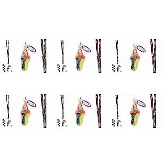 Pack Of 6 Rock Dummies With Bubbles Lanyards