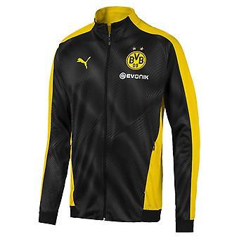 2019-2020 Borussia Dortmund Puma Stadium Jacket (Black) - Kids