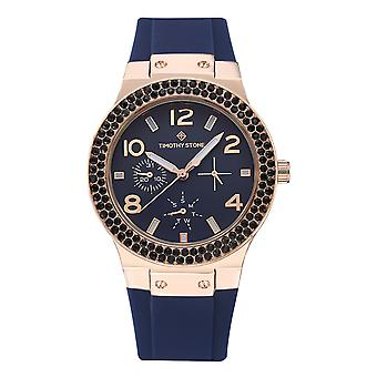 Timothy Stone Women's FACON-SPORT Rose Gold-Tone and Blue Strap Watch