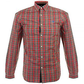 Fred Perry Herren Ogilvy Tartan-Langarm-Shirt - M8285-943