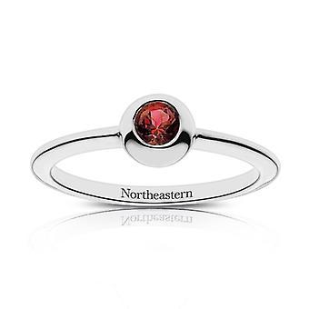 Nordöstra universitetet nordöstra graverade Ruby Ring