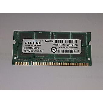 Certificado Apple crucial 2GB (1x2GB) DDR2 800MHZ PC2-6400 CT2G2S800M. M16FM SoDIMM MacBook iMac memoria renovada