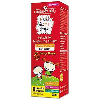 Nature's Aid Multi-vitamin Mini Drops for infants & children 50ml