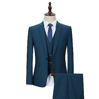 Allthemen män ' s 3-Piece tuxedos solid Slim Fit Business kostym jacka & väst & byxor