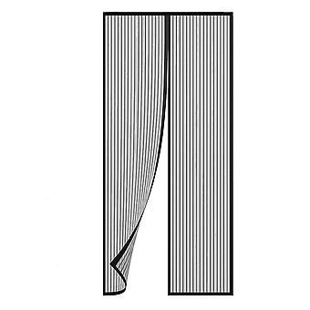 TRIXES preto magnético Fly inseto tela porta mesh cortina de porta painel 90 x 210cm