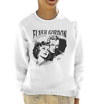 Flash Gordon Couple Portrait Kid's Sweatshirt