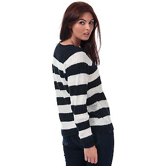 Womens Only Malone Striped Jumper In Night Sky / Cloud Dancer