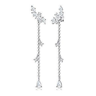 Elli Silver Women's Pin Earrings 311342717