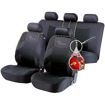 Elegance auton istuimen kansi musta/harmaa Toyota YARIS/VITZ 2010-2018
