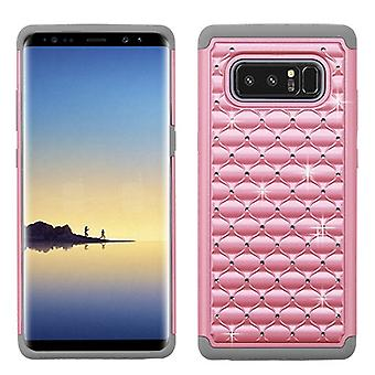 ASMYNA Pearl Pink/Gray FullStar Protector Cover  for Galaxy Note 8