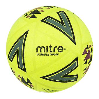 Mitre Ultimatch Indoor Football Soccer Ball Yellow/Black